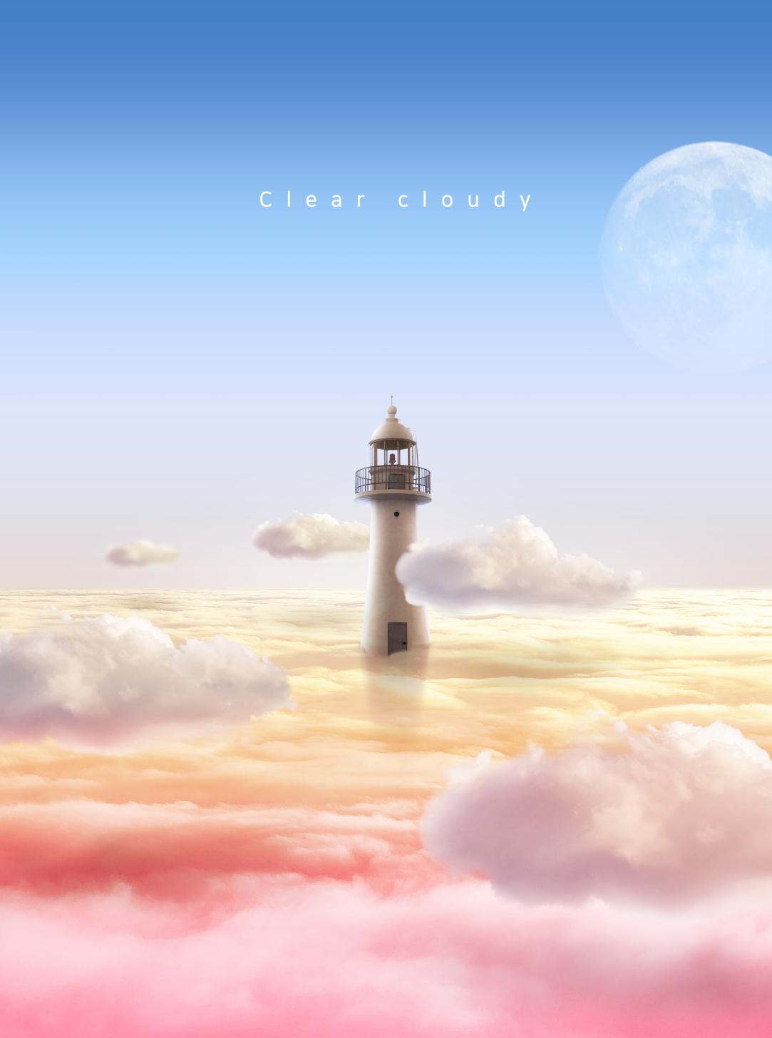 [单独购买] 14款创意梦幻唯美白云云朵企业主视觉KV展板海报设计PSD模版 Cloud Sale Poster Template插图5