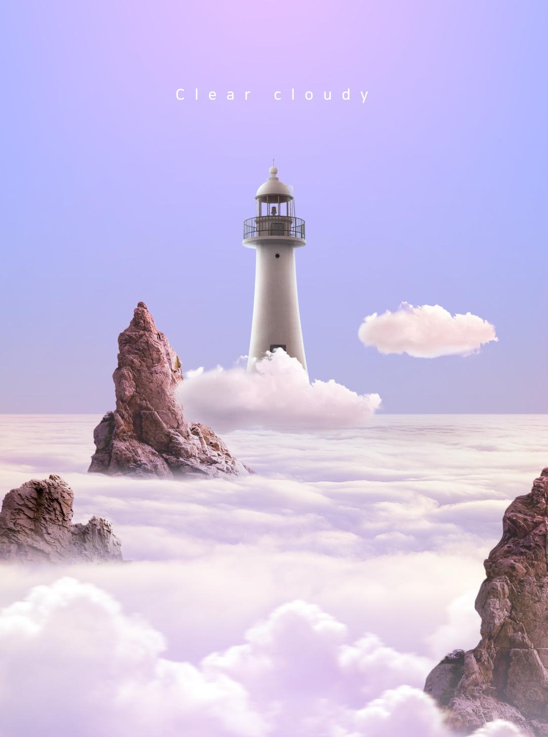 [单独购买] 14款创意梦幻唯美白云云朵企业主视觉KV展板海报设计PSD模版 Cloud Sale Poster Template插图8