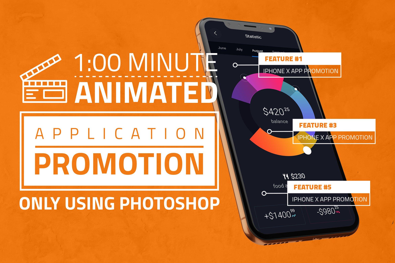 多角度APP界面设计苹果iPhone X手机屏幕演示样机模板 iPhone X App Promotion插图