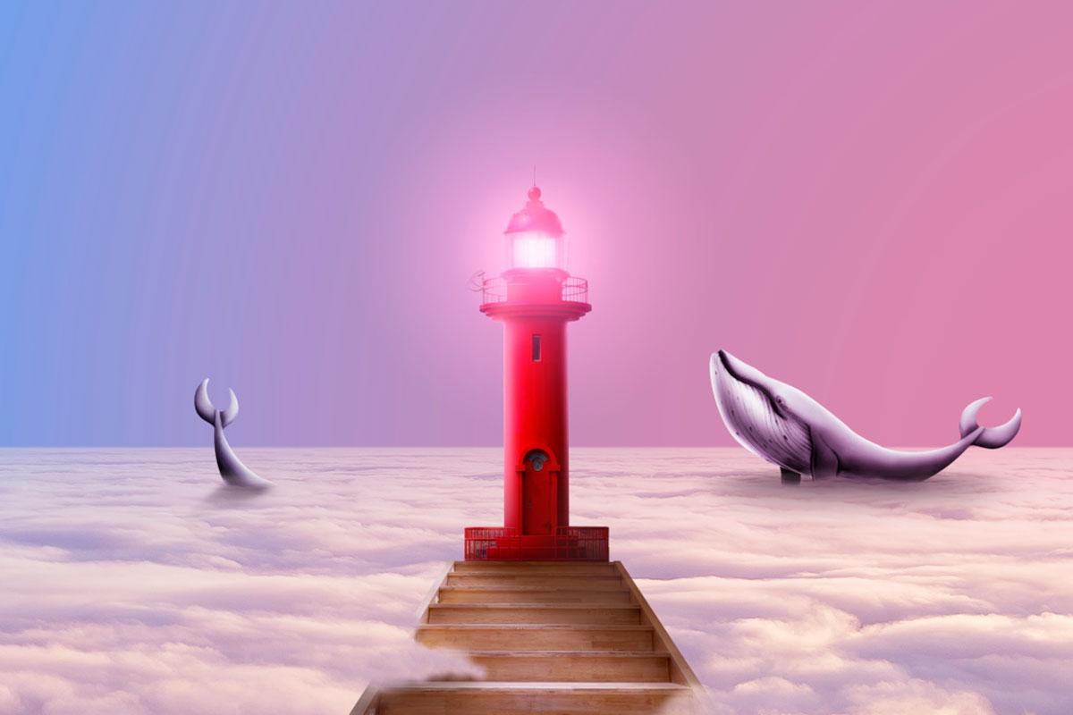 [单独购买] 14款创意梦幻唯美白云云朵企业主视觉KV展板海报设计PSD模版 Cloud Sale Poster Template插图