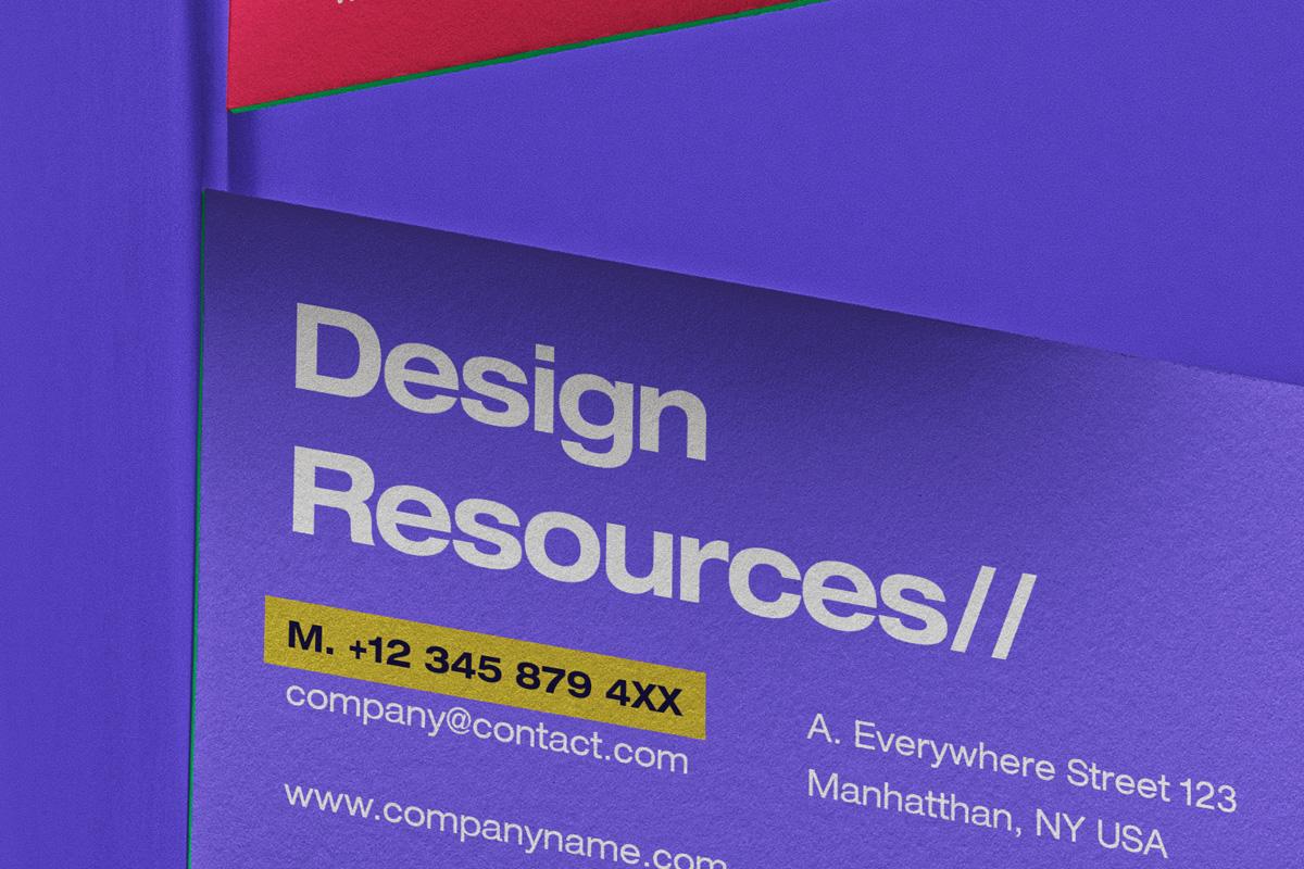 商务名片卡片设计展示PSD样机模板 Business Card Psd Scene Mockup Set插图2