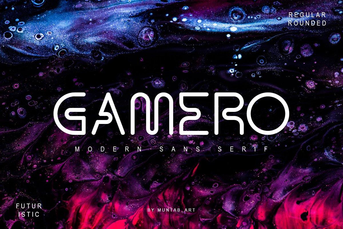 潮流现代科幻未来宇宙科技海报Logo无衬线英文字体 Gamero Modern Sans插图