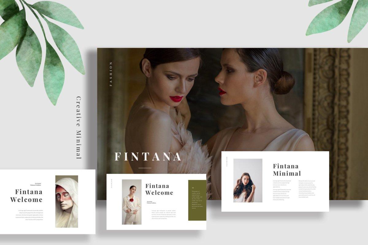 时尚主题演讲图文排版设计Keynote模板 Fintana Fashion Keynote插图