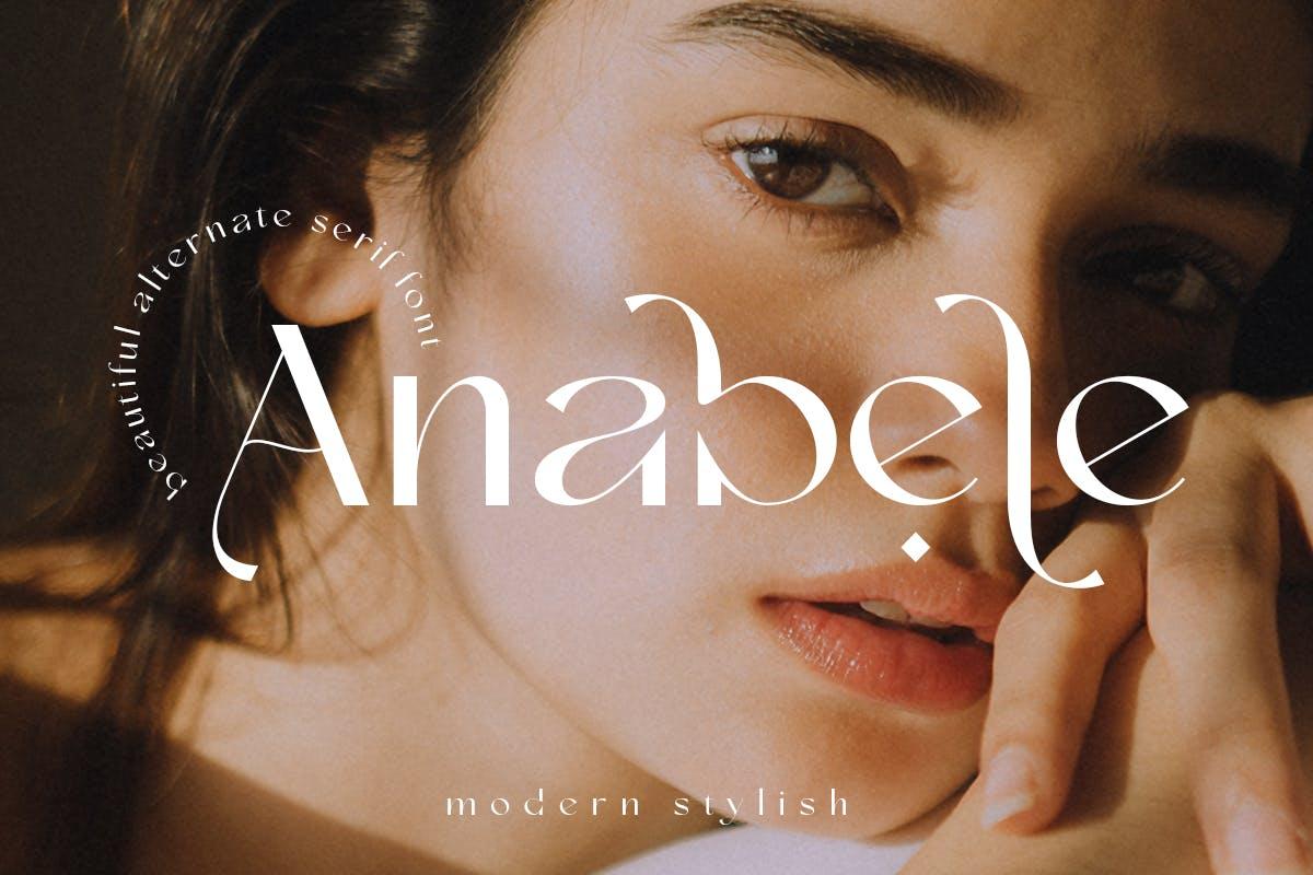 现代优雅奢华杂志海报标题品牌logo设计衬线英文字体 Anabele  Modern Stylish插图