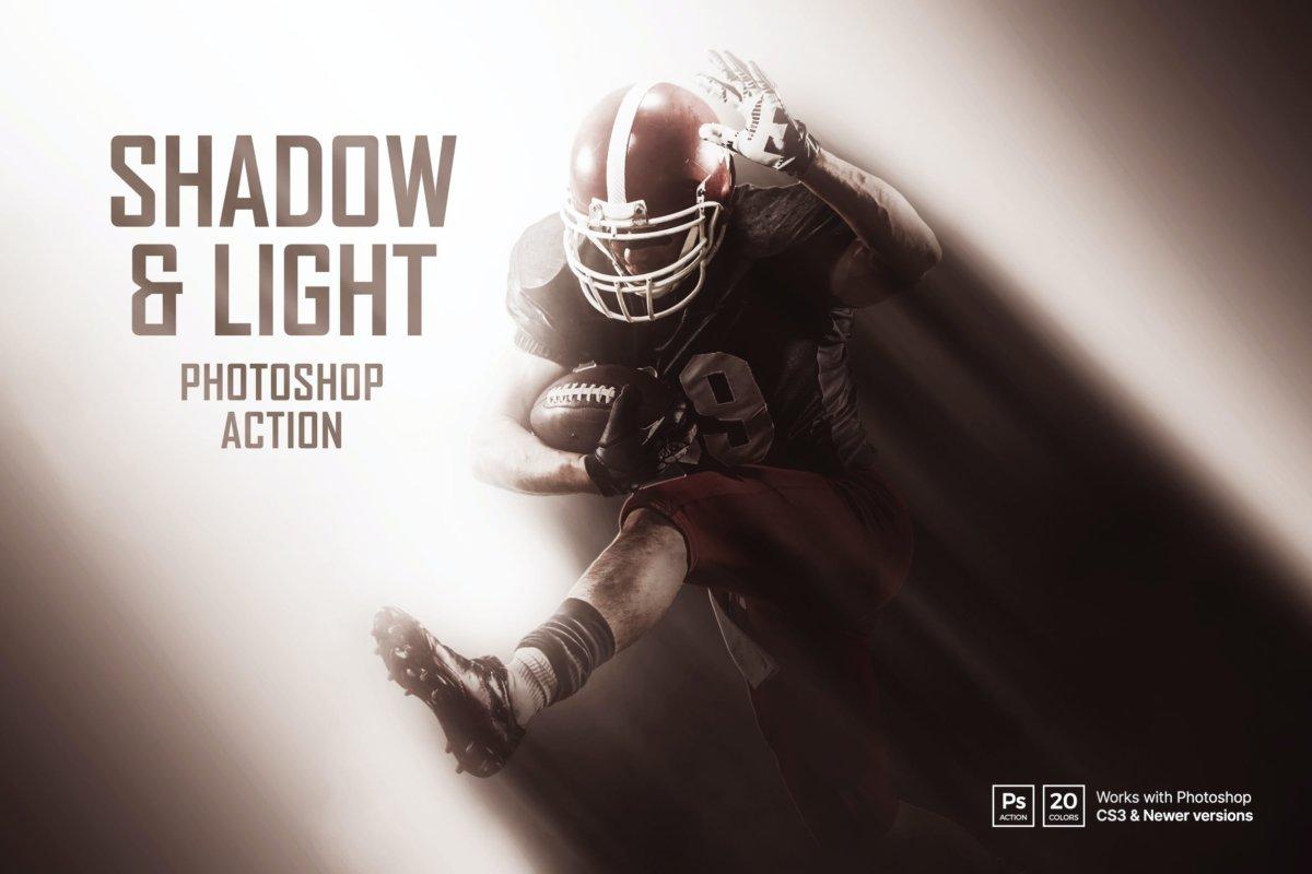 创意光影效果照片处理特效PS动作模版 Shadow & Light Photoshop Action插图