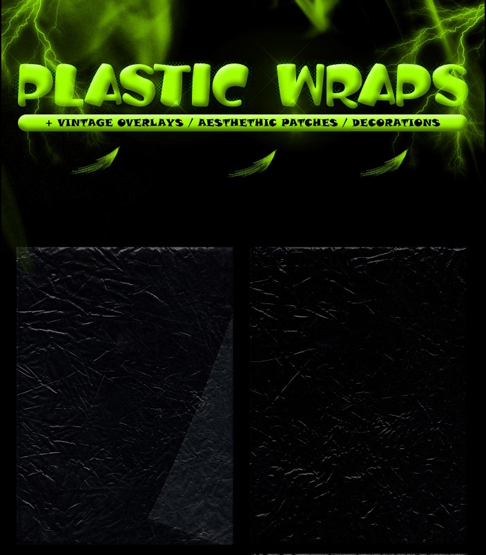 潮流虹彩渐变燥点颗粒保鲜膜蝴蝶热气球贴纸背景PNG免抠图片素材 Sebastien Kuzmanov – Plastic Wraps插图1