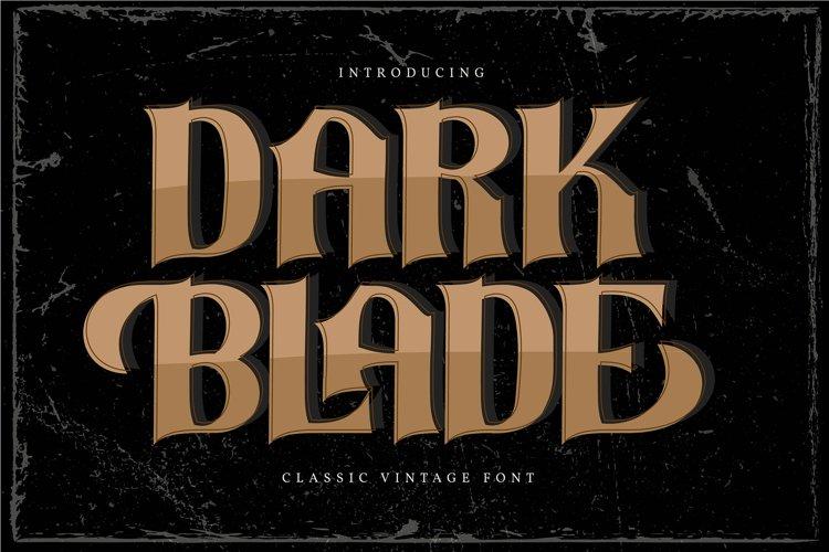 经典复古海报标题品牌徽标Logo设计衬线英文字体素材 Dark Blade Font插图