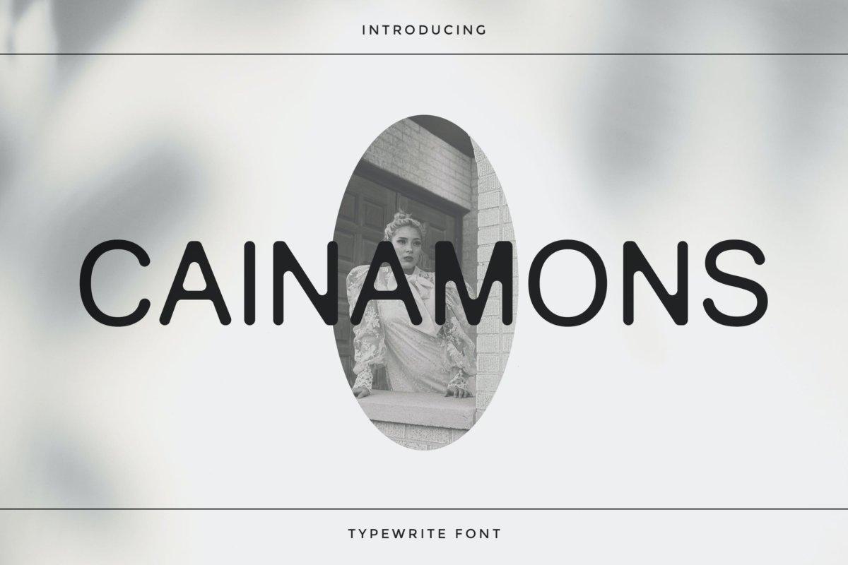 复古优雅杂志海报标题徽标Logo设计无衬线英文字体下载 Cainamons – Vintage Font DR插图