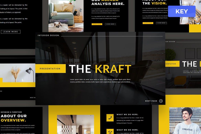 现代简约企业营销策划提案简报演示文稿设计模板 TheKraft – Keynote Presentation Templates插图