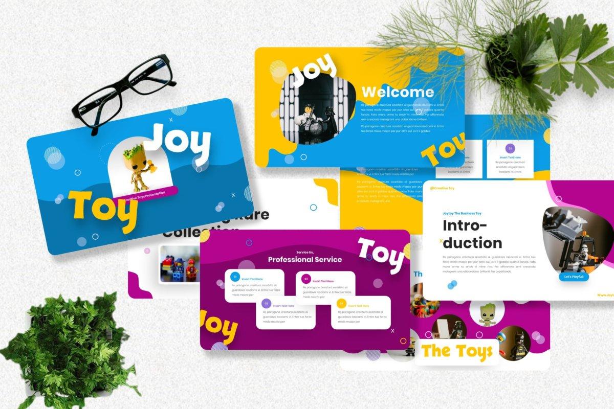 创意炫彩儿童主题作品集演示文稿设计模板 Joytoy – Kids Toy Powerpoint Templates插图