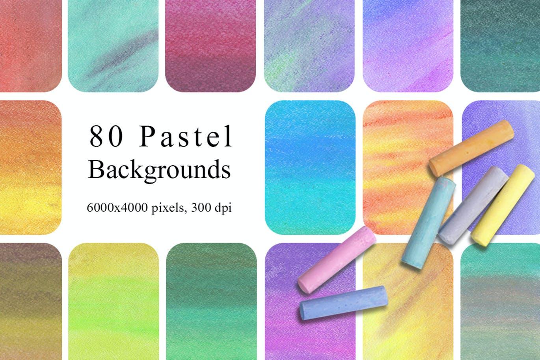 [单独购买] 80个高清虹彩水彩纹理海报设计背景图片素材 80 Rainbow Pastel Texture Backgrounds插图