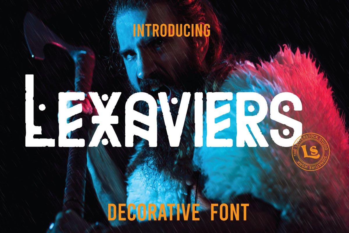 复古部落字符广告海报徽标logo设计装饰字体 Lexaviers插图