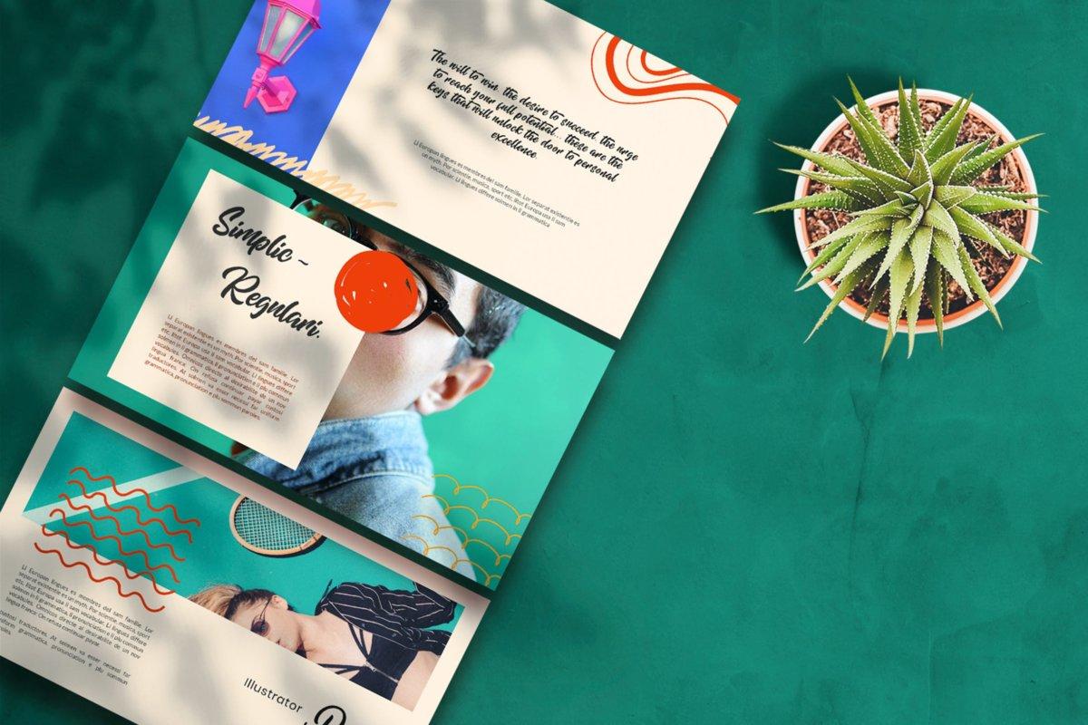 简约清新摄影作品集演示文稿设计ppt模板 Therines – Power point Template插图