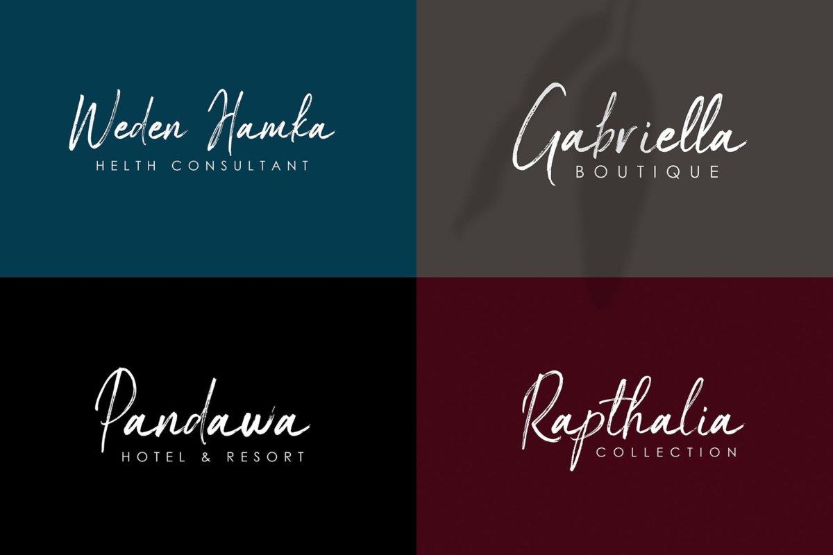 时尚优雅杂志海报标题品牌logo设计手写字体脚本 Maldives Handbrush Font插图9