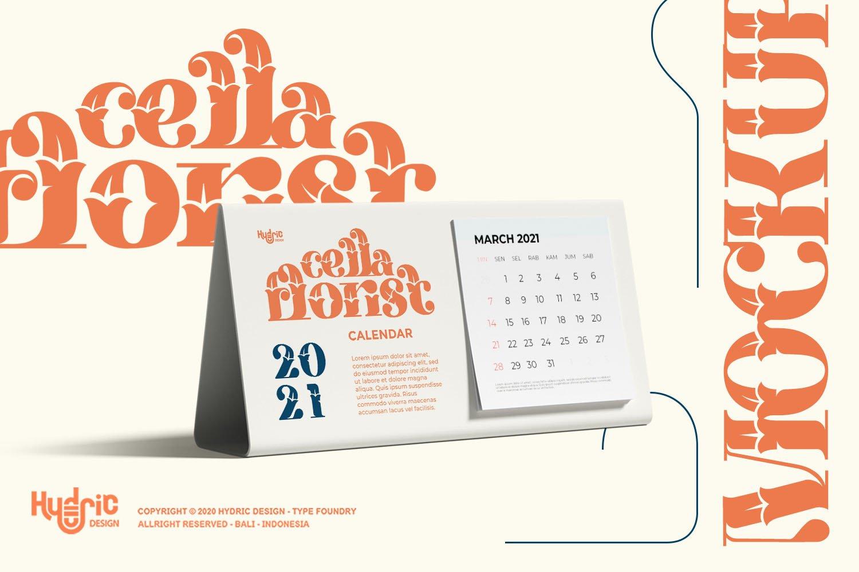 优雅海报标题徽标Logo设计花卉装饰英文字体下载 Kyra Vaglo Font插图9