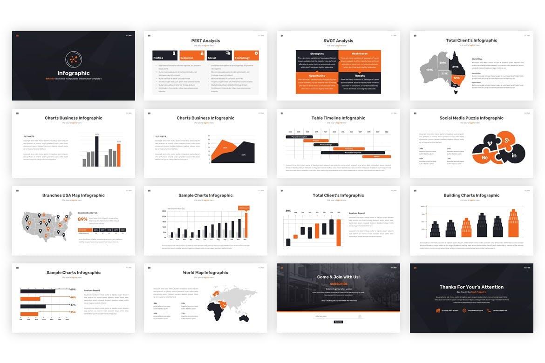 多用途黑白色系商业幻灯片模版 Behavior – Multipurpose Google Slides Template插图9