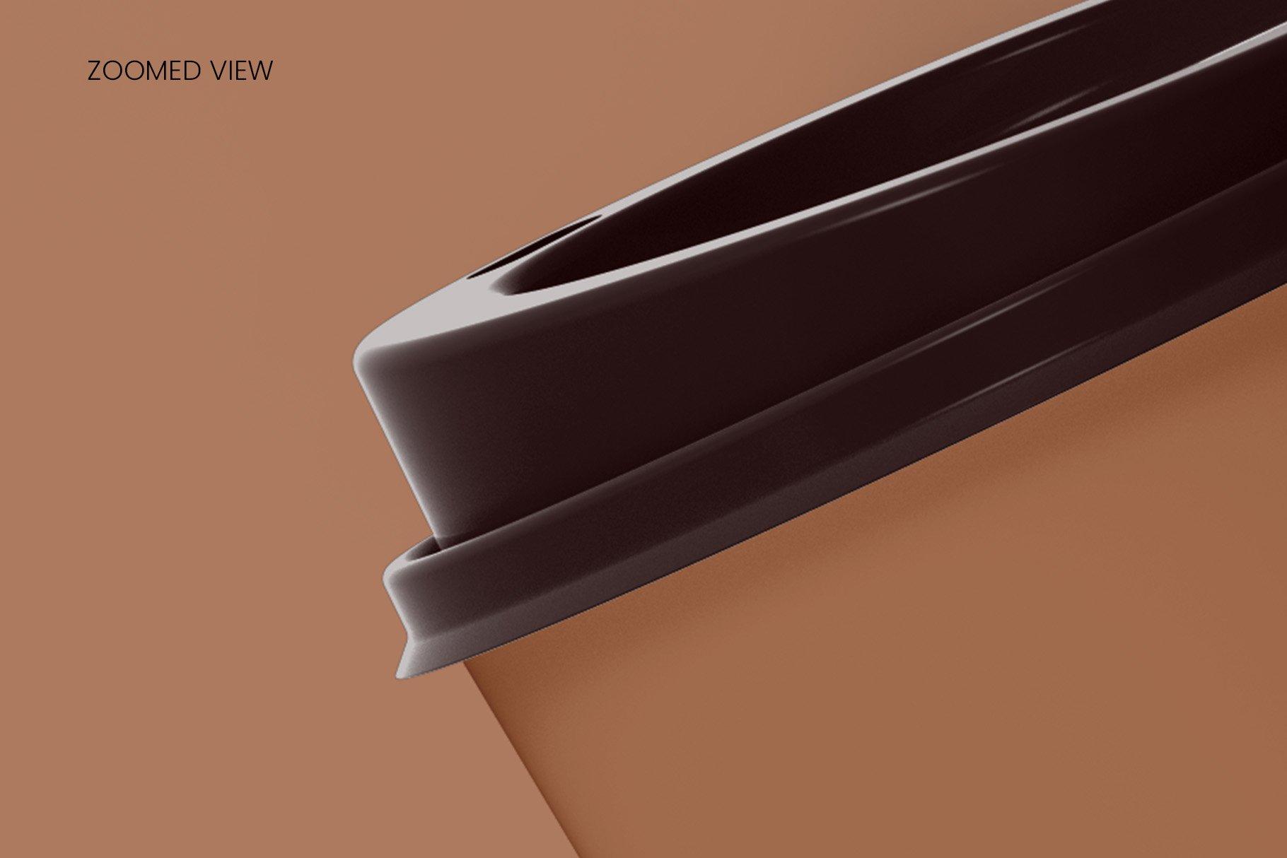 8个一次性咖啡外卖纸杯设计贴图样机模板 Coffee Cup Mockup – 8 views插图10
