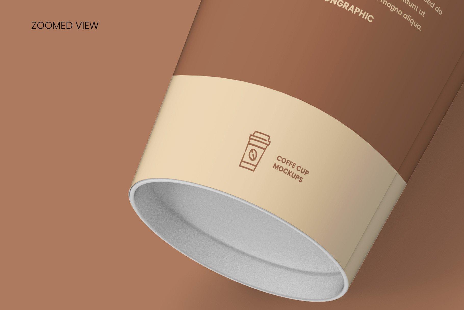 8个一次性咖啡外卖纸杯设计贴图样机模板 Coffee Cup Mockup – 8 views插图15