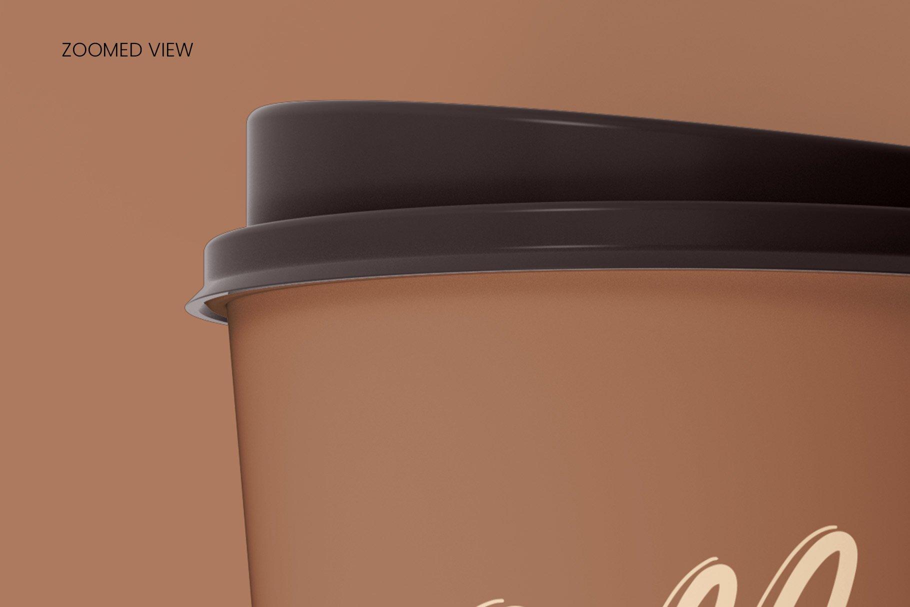 8个一次性咖啡外卖纸杯设计贴图样机模板 Coffee Cup Mockup – 8 views插图14