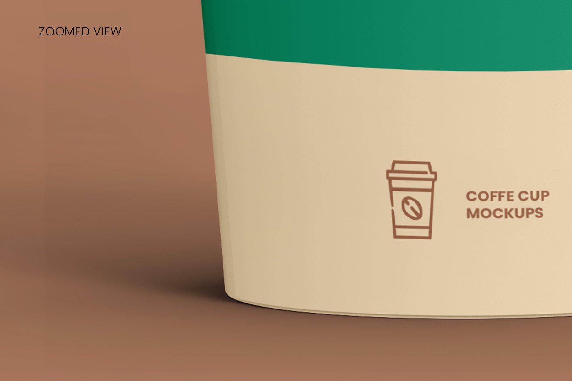 8个一次性咖啡外卖纸杯设计贴图样机模板 Coffee Cup Mockup – 8 views插图13