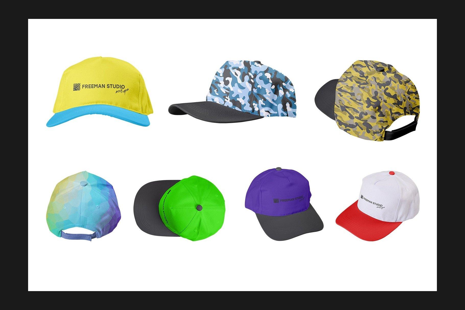 45个超大工装帽子安全帽品牌Logo设计智能贴图样机PSD模版素材 Working Overalls Suit Mock-Up Set插图13