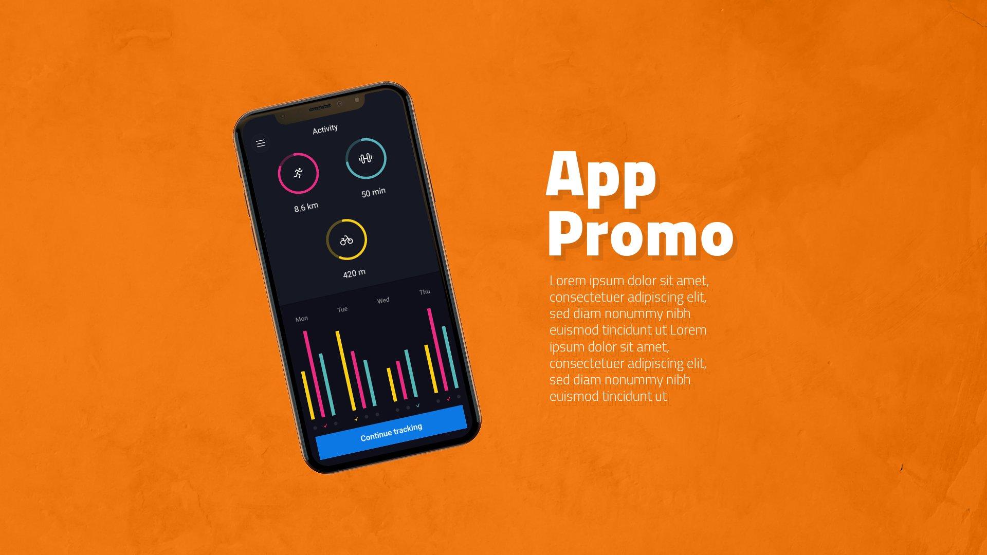 多角度APP界面设计苹果iPhone X手机屏幕演示样机模板 iPhone X App Promotion插图1