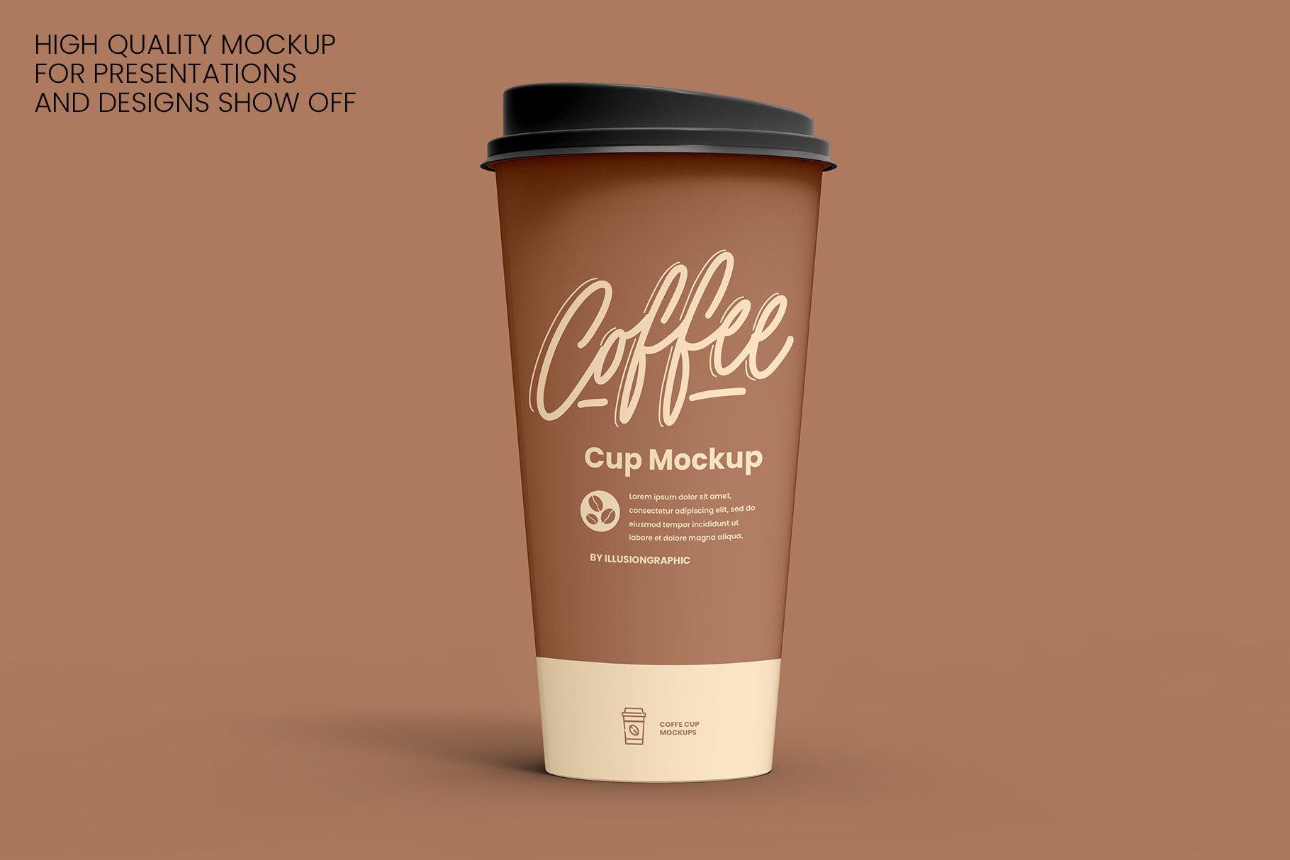 8个一次性咖啡外卖纸杯设计贴图样机模板 Coffee Cup Mockup – 8 views插图1