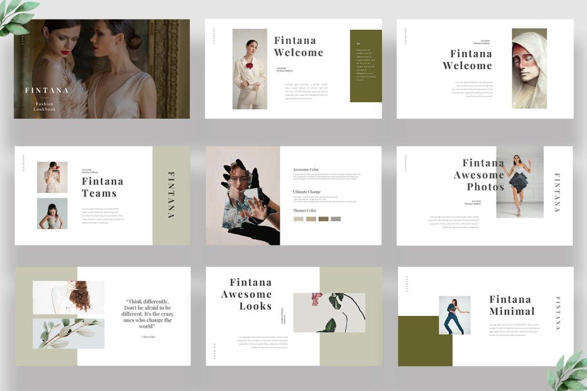 时尚主题演讲图文排版设计Keynote模板 Fintana Fashion Keynote插图1