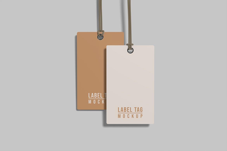 逼真服装标签吊牌设计展示贴图样机模板 Label Tag Mockup插图1