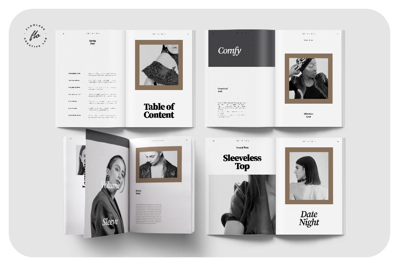 时尚服装设计作品集排版设计INDD画册模版 Litha Editorial Fashion Lookbook插图1