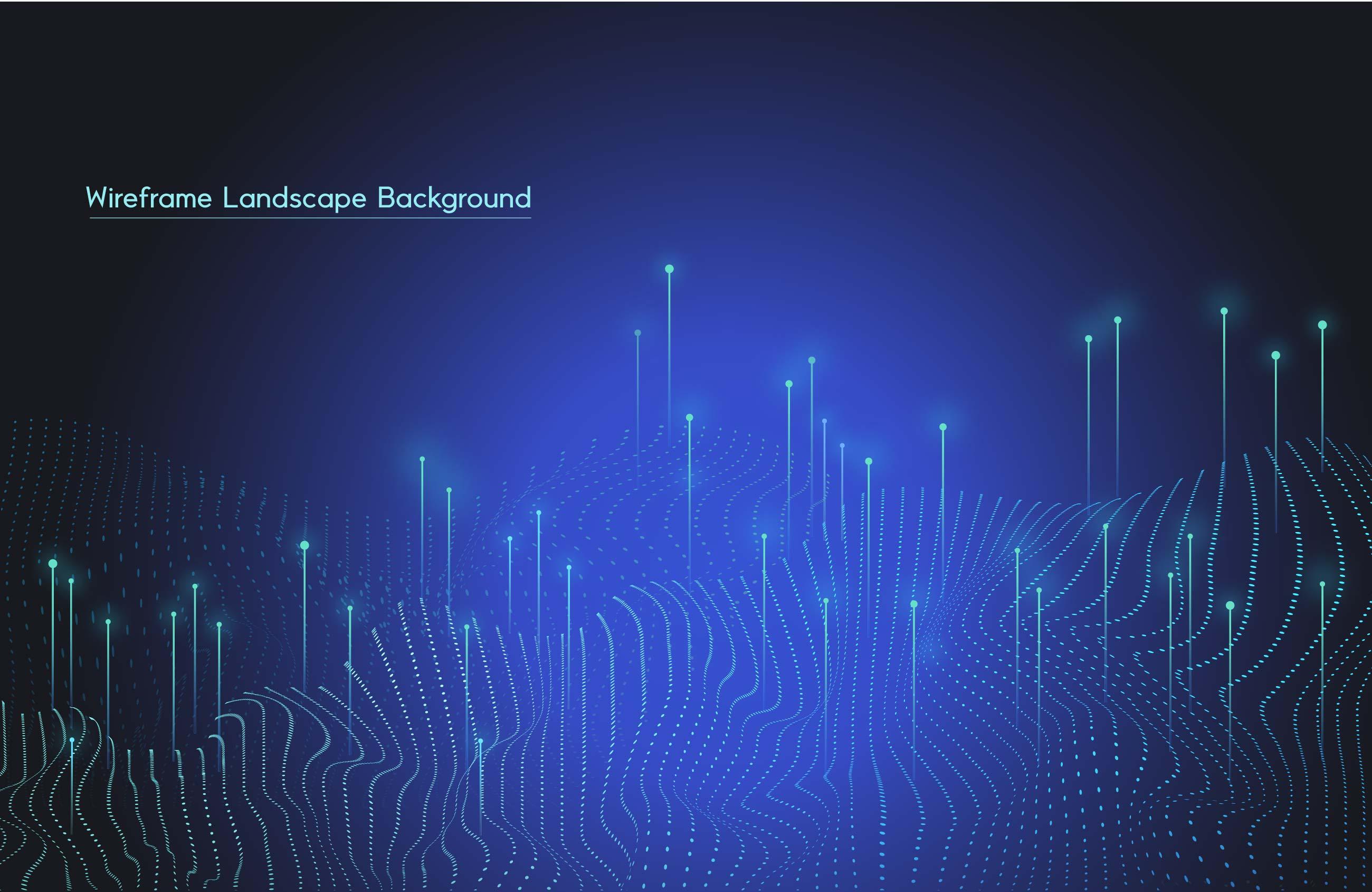 [单独购买] 9款未来科幻网络科技互联网大数据背景AI矢量素材 Big Data Vector Background插图2