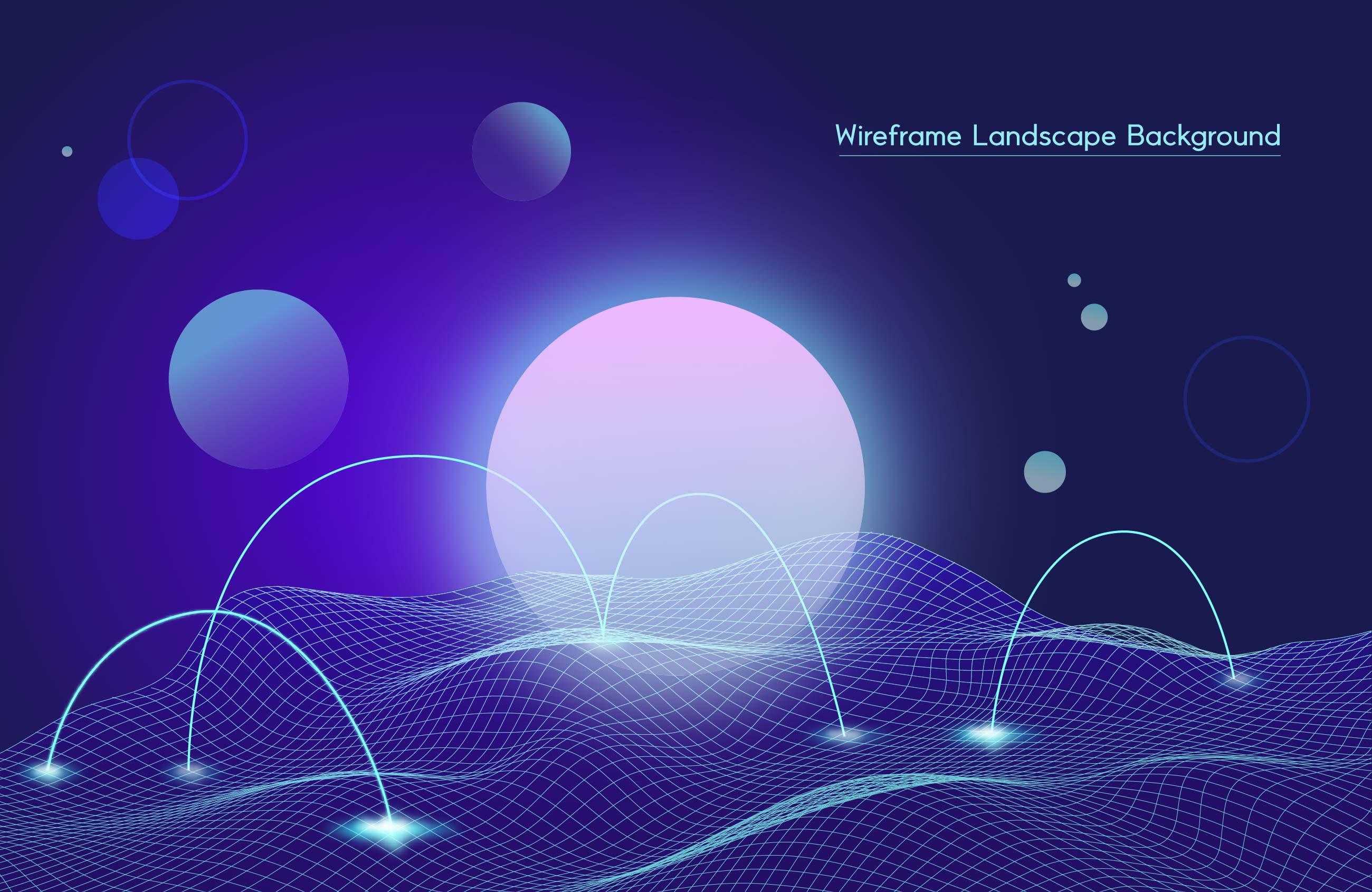 [单独购买] 9款未来科幻网络科技互联网大数据背景AI矢量素材 Big Data Vector Background插图5