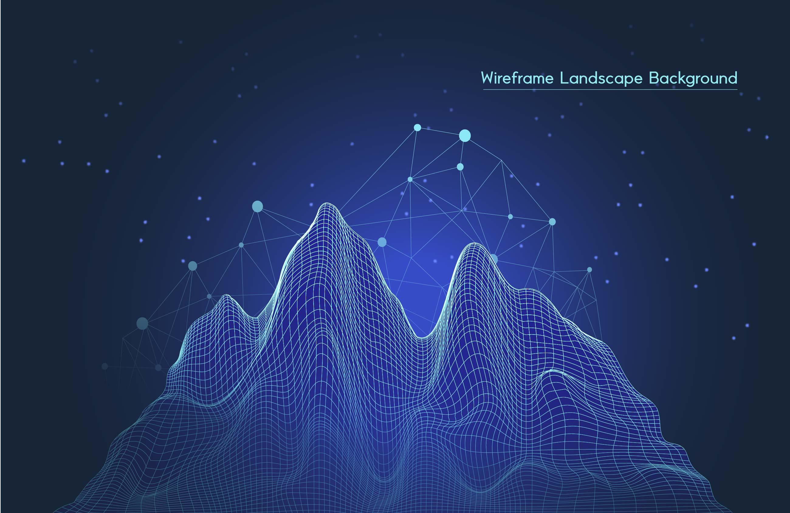 [单独购买] 9款未来科幻网络科技互联网大数据背景AI矢量素材 Big Data Vector Background插图6