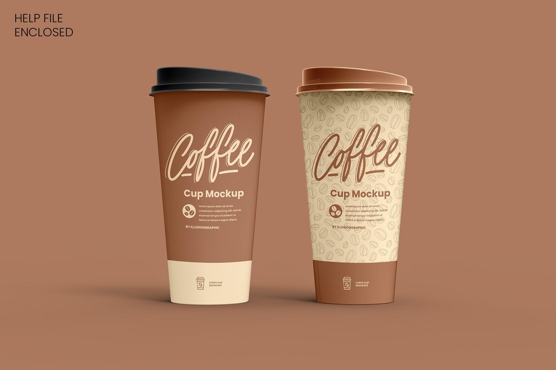8个一次性咖啡外卖纸杯设计贴图样机模板 Coffee Cup Mockup – 8 views插图2