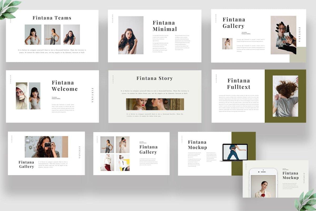 时尚主题演讲图文排版设计Keynote模板 Fintana Fashion Keynote插图2
