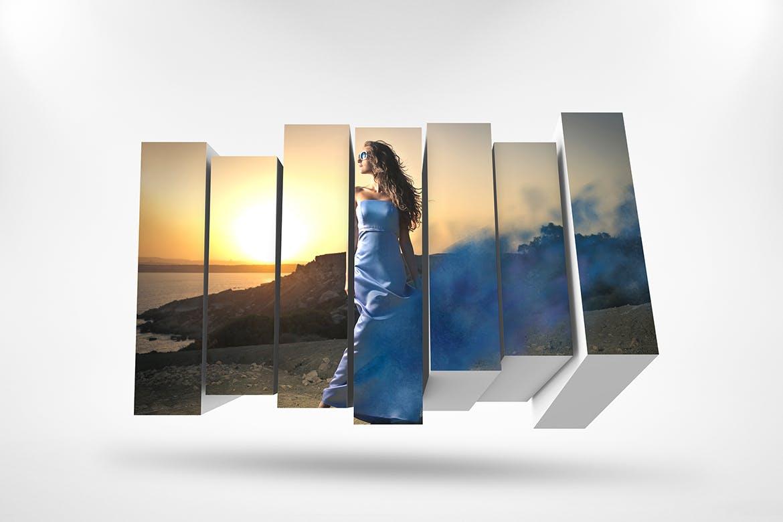 3D相框照片展示样机PSD模板素材 3D Photo Box Mockups Template V-8插图2