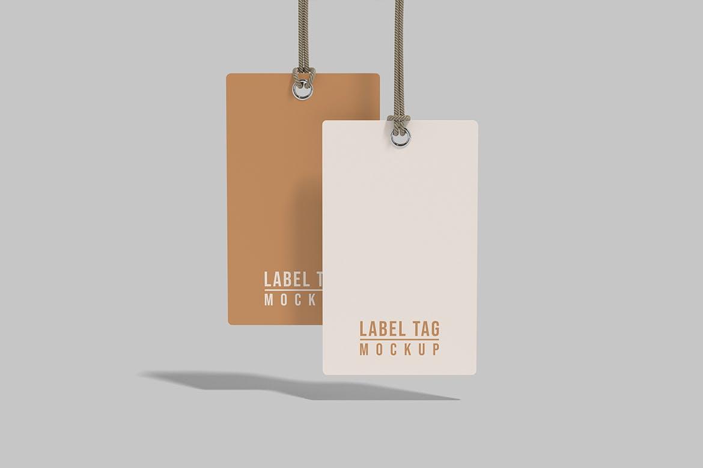 逼真服装标签吊牌设计展示贴图样机模板 Label Tag Mockup插图2