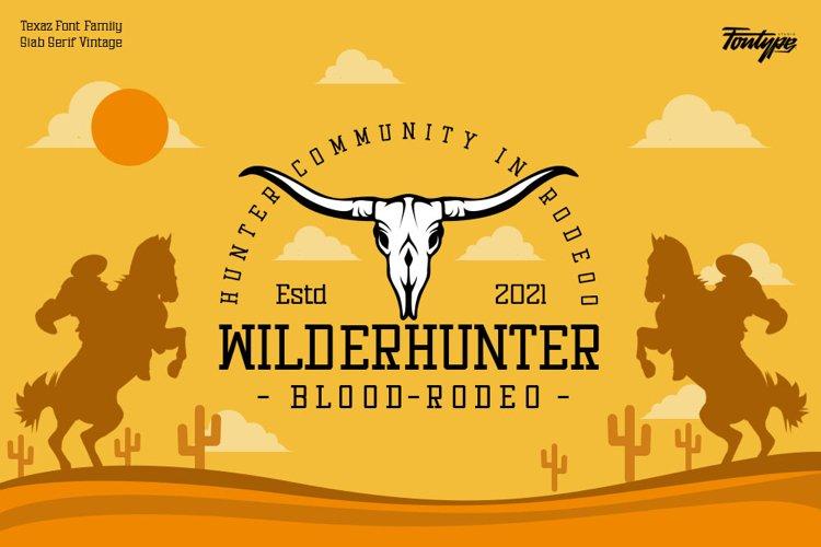 复古狩猎户外徽标Logo设计无衬线英文字体素材 Texaz Font插图2