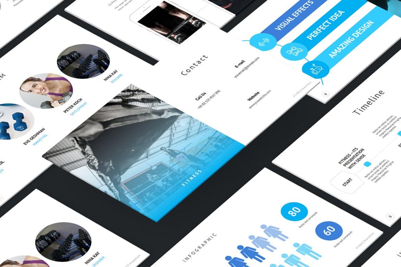 时尚简约健身主题营销策划演示文稿设计模板 Fitness and Gym – PowerPoint Template插图2