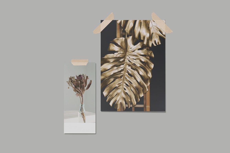 时尚剪贴相片情绪版卡片设计展示样机模板 Moodboard Mock-Up Vol.2插图2