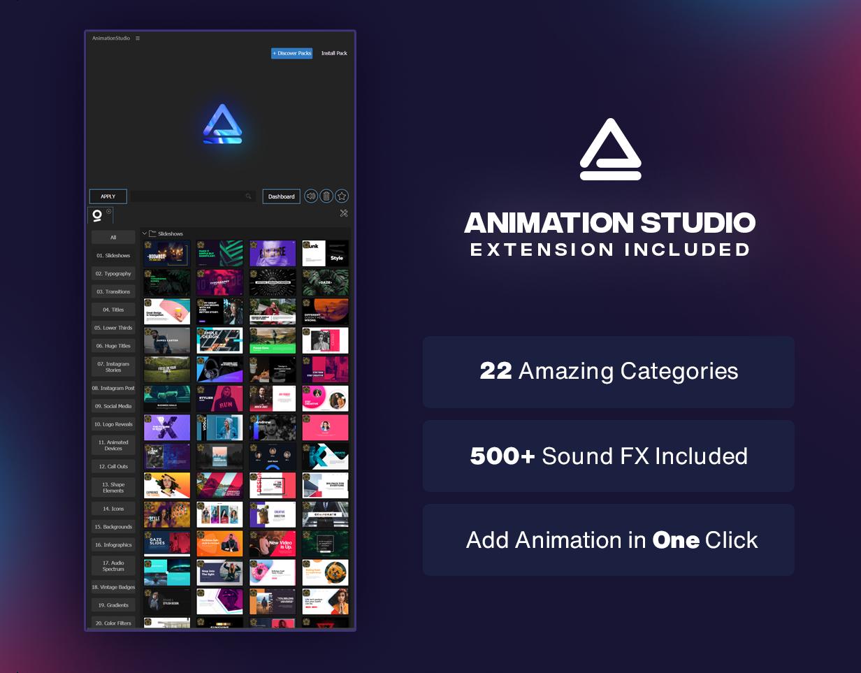 [单独购买] 4000多款创意文字标题排版字幕条Logo设计背景动画预设AE脚本 Graphics Pack // 4000+ Animation Pack插图2