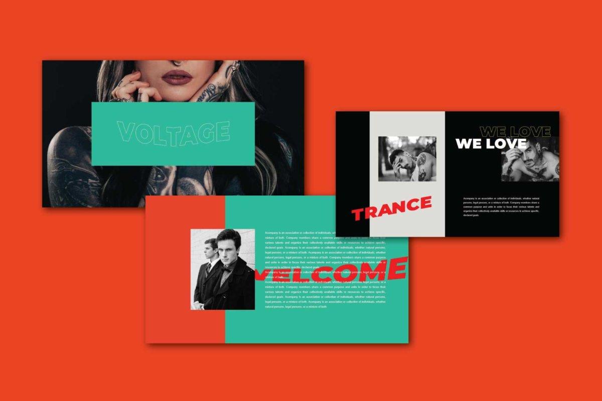 时尚炫彩服装作品集主题演讲设计Keynote 模版 Trance – Keynote Template插图2