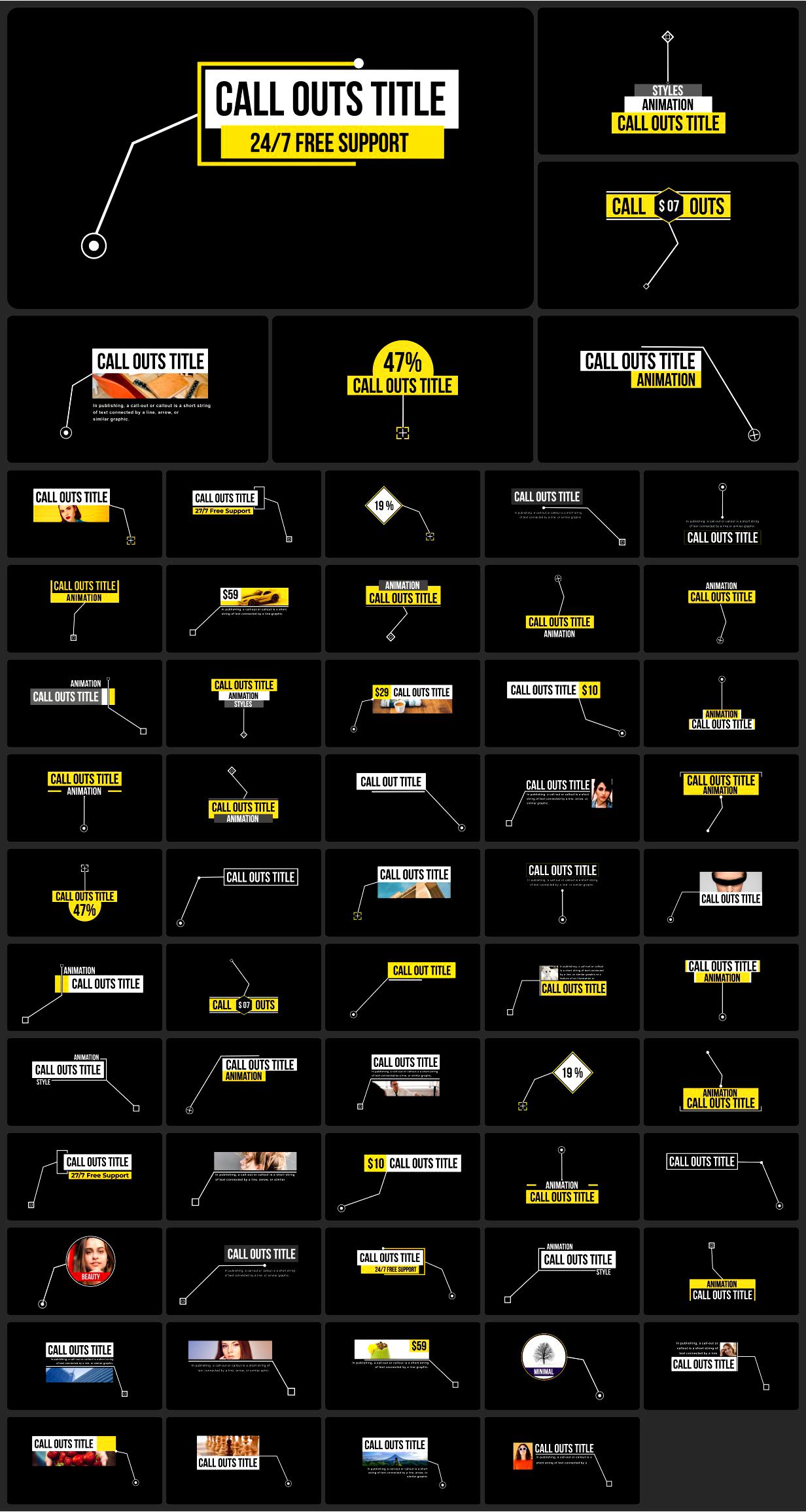 [单独购买] 4000多款创意文字标题排版字幕条Logo设计背景动画预设AE脚本 Graphics Pack // 4000+ Animation Pack插图30