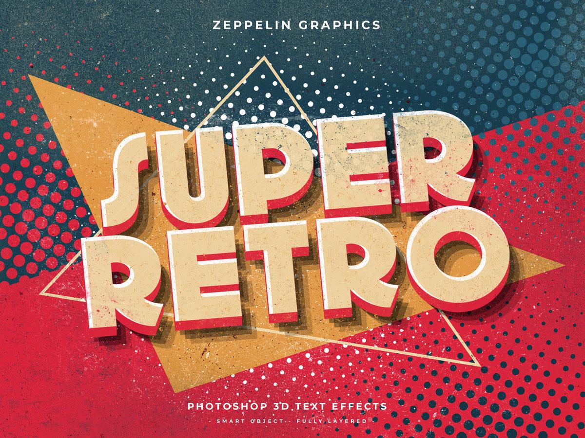 10个复古90年代3D立体标题徽标Logo设计PS样机模板素材 90s Text Effects插图3
