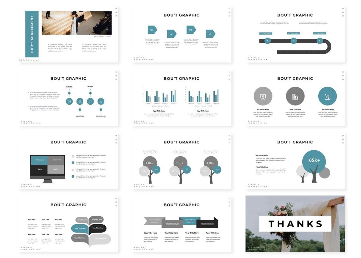 唯美婚礼摄影作品集演示文稿设计模板 Wedding  Powerpoint Template插图3