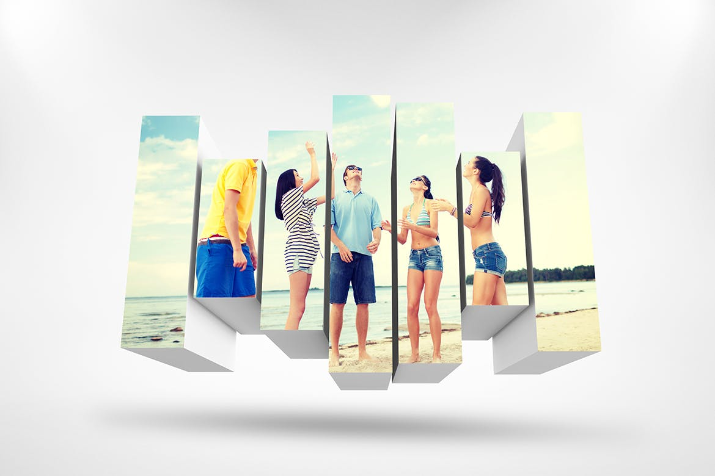 3D相框照片展示样机PSD模板素材 3D Photo Box Mockups Template V-8插图3