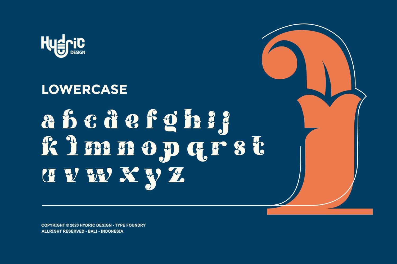 优雅海报标题徽标Logo设计花卉装饰英文字体下载 Kyra Vaglo Font插图3