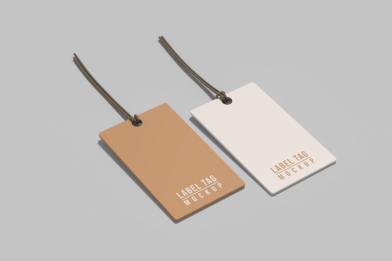 逼真服装标签吊牌设计展示贴图样机模板 Label Tag Mockup插图3