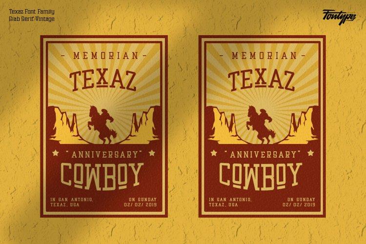 复古狩猎户外徽标Logo设计无衬线英文字体素材 Texaz Font插图3