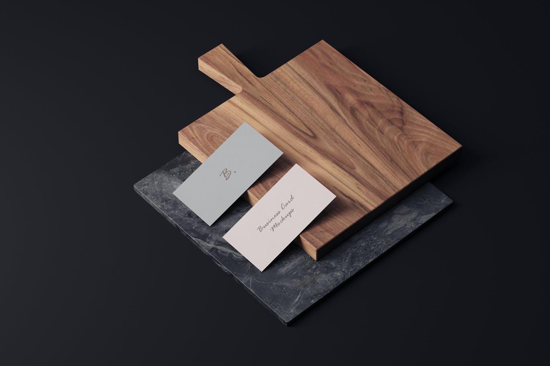 4个商务名片卡片设计样机模板 Business Card Mockups插图3